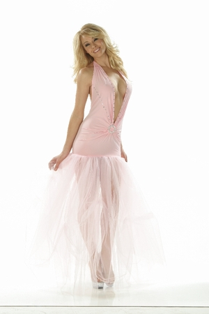 Lycra/Tulle/Rhinestones Gown * 4837