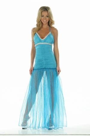 Beaded Trim/Sparkle Net Gown * 4869