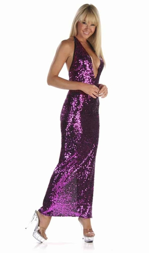 Stretch Sequin Gown * 4907