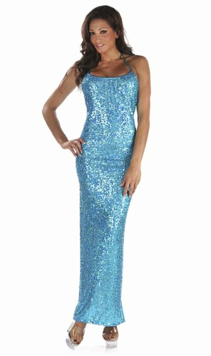 Stretch Sequin Gown * 4908