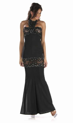 Lace/Rhinestones Gown * 4936