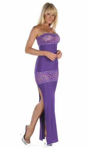 Lace/Rhinestones Gown * 4937