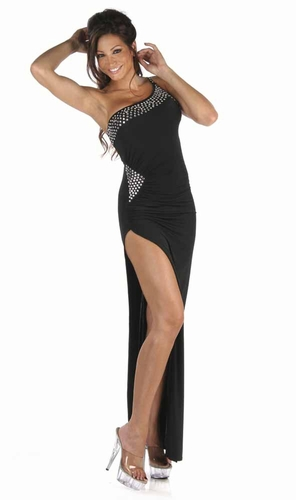 Poly/Rhinestones Gown * 4963