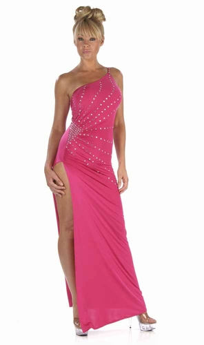 Poly/Rhinestones Gown * 4964