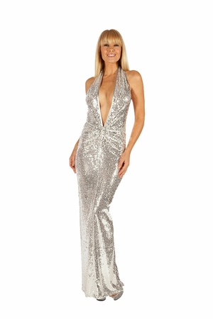 Stretch Sequined Gown * 5503