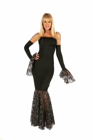 Metallic Lace Gown * 5511
