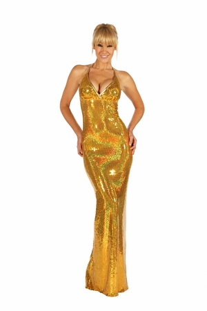 Stretch Sequined Gown * 5523