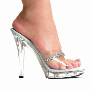 "5"" Clear Pageant Shoes * M-JESSE"