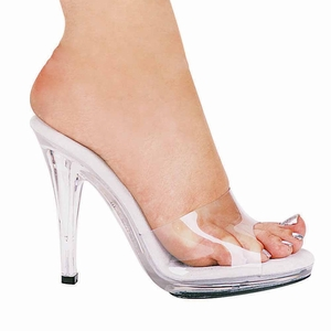 "4 1/2"" Clear High Heel Shoes * 421-VANITY"