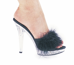 "5"" Marabou Bedroom Slipper * SASHA"
