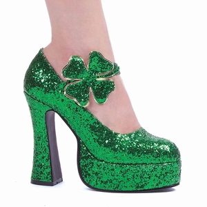 "5"" St. Patricks Day Green Maryjane * 557-LUCKY"