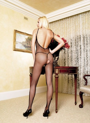 Fishnet Bodystocking with V-Back * 8671