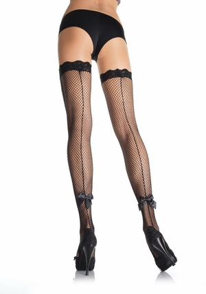 Fishnet Stocking with Satin Bow * 9025