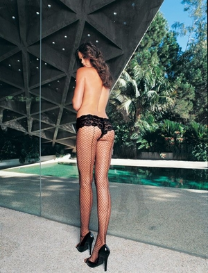 Lycra Industrial Net Panty Hose With Back Seam * 9076