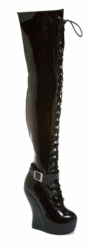 "5"" Curved Wedge Thigh High * BP588-OPHELIA"