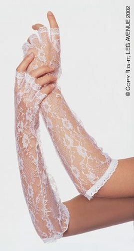 Elbow Length Fingerless Lace Gloves * G1860