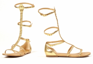 Flat Gold Braid Rope Sandal * 015-CAIRO