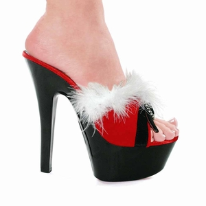 "6"" Mrs. Claus High Heels * 601-PLUSH"