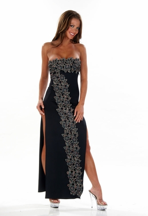 Stretch Embroidered Gown * 4469X