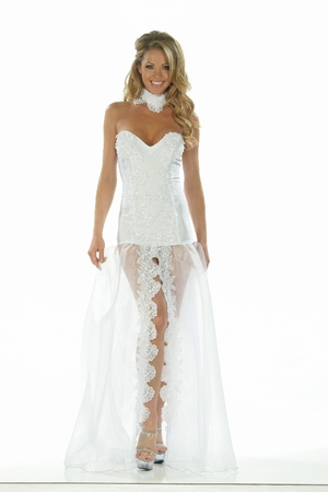 Lycra/Organza/Sequin Lace Gown * 4862X
