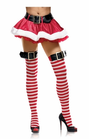 Candycane Striped Stockings * 31018