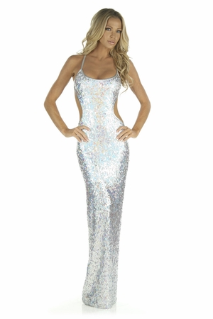 Sequin Mesh Gown * 5219L