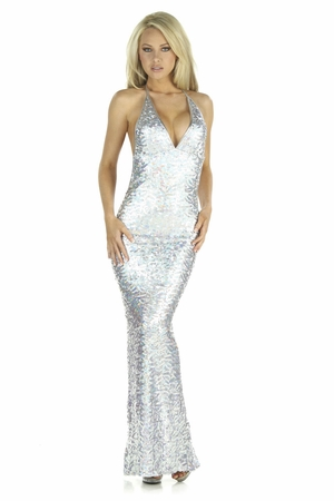 Sequin Mesh Gown * 5223