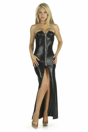 Wet-Look Gown * 5241