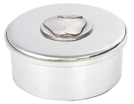 Woodbury Pewter Apple Round Box /lid / 3.5""
