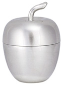 "Woodbury Pewter Apple Box / 4.25""H"