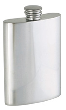 Woodbury Pewter Satin Finish Flask - 4 oz