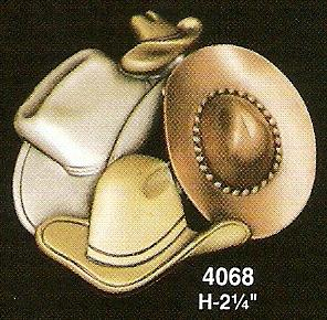 Cowboy Hat Pin/Brooch in Tri-Colors
