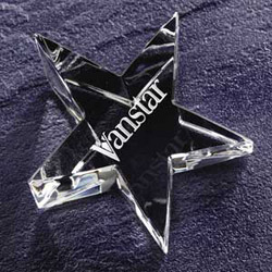 Engravable Glassware Crystal Star