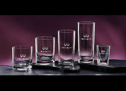 Engravable Glassware Fluted Shot Glass