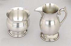 "Woodbury 6 oz Pewter ""1835"" Design Cream & Sugar Set"