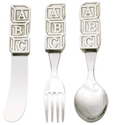 Woodbury Pewter ABC Child Cutlery Set / 5""