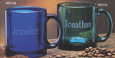 Engravable Glassware Gallery Coffee Mugs