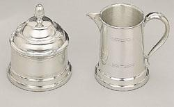 Woodbury 8 oz Pewter Cream & Sugar Set