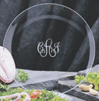 "Engravable Glassware Hostess 12"" Round Tray"