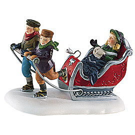 "Department 56 ""Dickens' Alpine Village"" - 'Winter Sleighride'.  RETIRED."