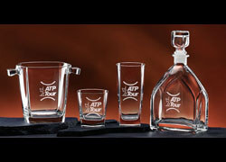 Engravable Glassware Geo On the Rocks