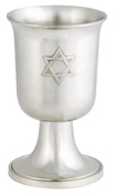 Woodbury Pewter Kiddush Cup W/star Pair/ 3 Oz
