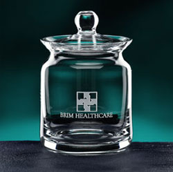 Engravable Glassware Heritage Biscuit Barrel