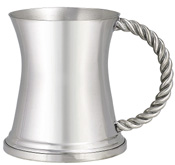 Woodbury Pewter Capstan Rope Handle Mug - 12 oz