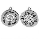 "MAKE YOUR OWN IMPRESSION CHARMS (1"" DIA)"