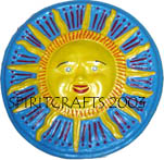 "SUN FACE PLATE / PLAQUE  CONCRETE MOLD (12.75"" DIA)"