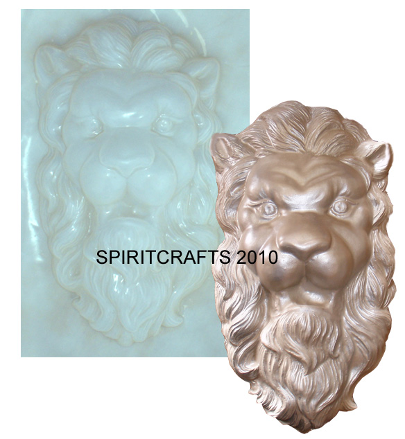 LARGE LION CONCRETE CASTING MOLD (8 5