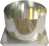 "ROUND METAL MOLD, 6"" x 3.5"" (3 lb 2 oz)"