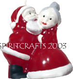 "KISSING SANTA CHRISTMAS CANDLE MOLD (4.75"", 11 oz)"