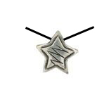 "ZIG ZAG PEWTER STAR BEADS, 1/2"" DIAMETER"